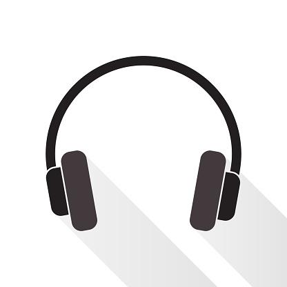 Headphones on white background.
