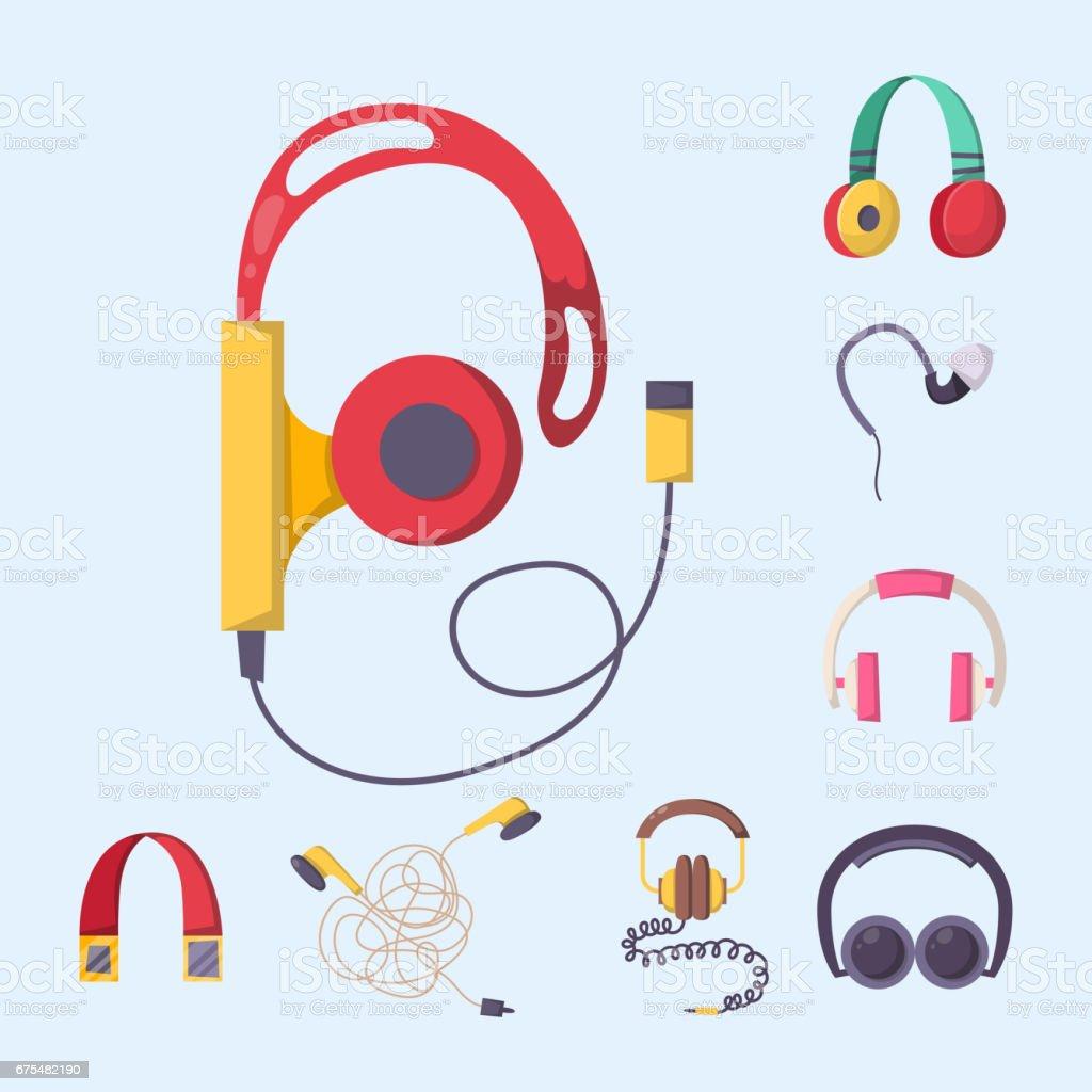 Kulaklık vektör müzik teknoloji Aksesuar stüdyo ses tasarımı koleksiyonu dj hoparlör seti royalty-free kulaklık vektör müzik teknoloji aksesuar stüdyo ses tasarımı koleksiyonu dj hoparlör seti stok vektör sanatı & bilgisayar grafiği'nin daha fazla görseli