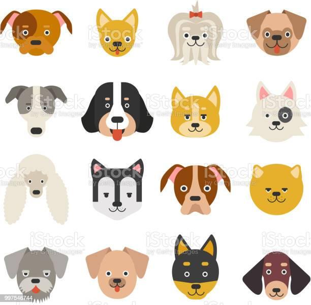 Heads of home pets funny dogs in flat style vector id997546744?b=1&k=6&m=997546744&s=612x612&h=jqo97ciuqbuz8mx bscfh6spcprbj6eczffuma4dgyq=