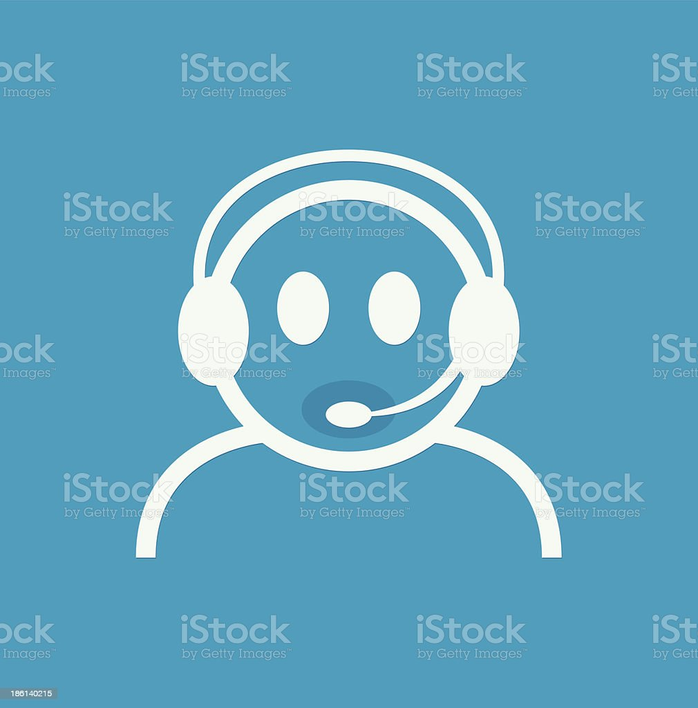 Headset Contact. Live Help. Support icon. Vector royalty-free stock vector art