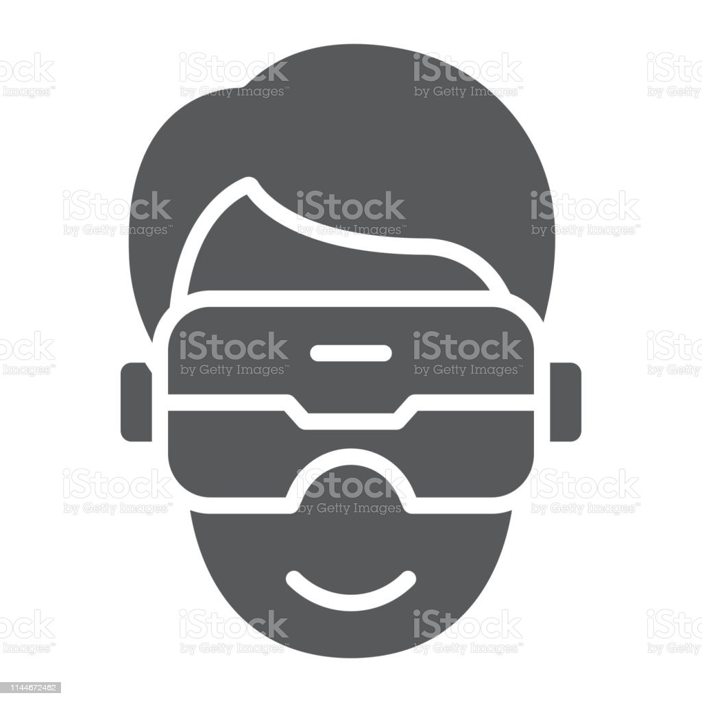 Vr Headset Glyph Icon Game And Technology Virtual Reality Mask Sign