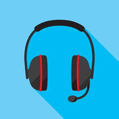 Headset Icon Flat