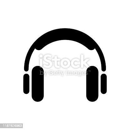 istock Headset icon music templates 1187826963