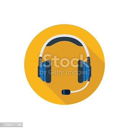 istock Headset icon 1200017786