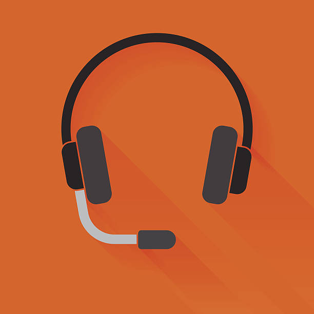 Headset Headset icon. hands free device stock illustrations