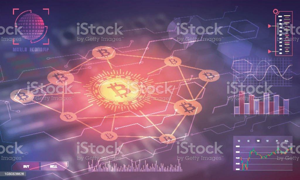 Headup Display Of A Bitcoin Trading Platform Cryptocurrency