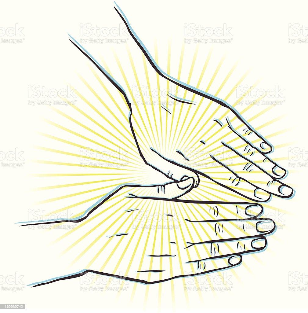 Healing Hands vector art illustration