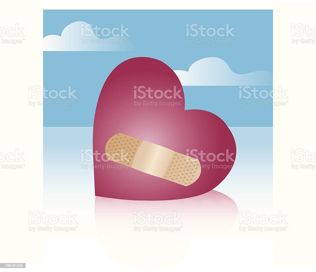 Healing Heart with a Bandage royalty-free healing heart with a bandage stock vector art & more images of adhesive bandage