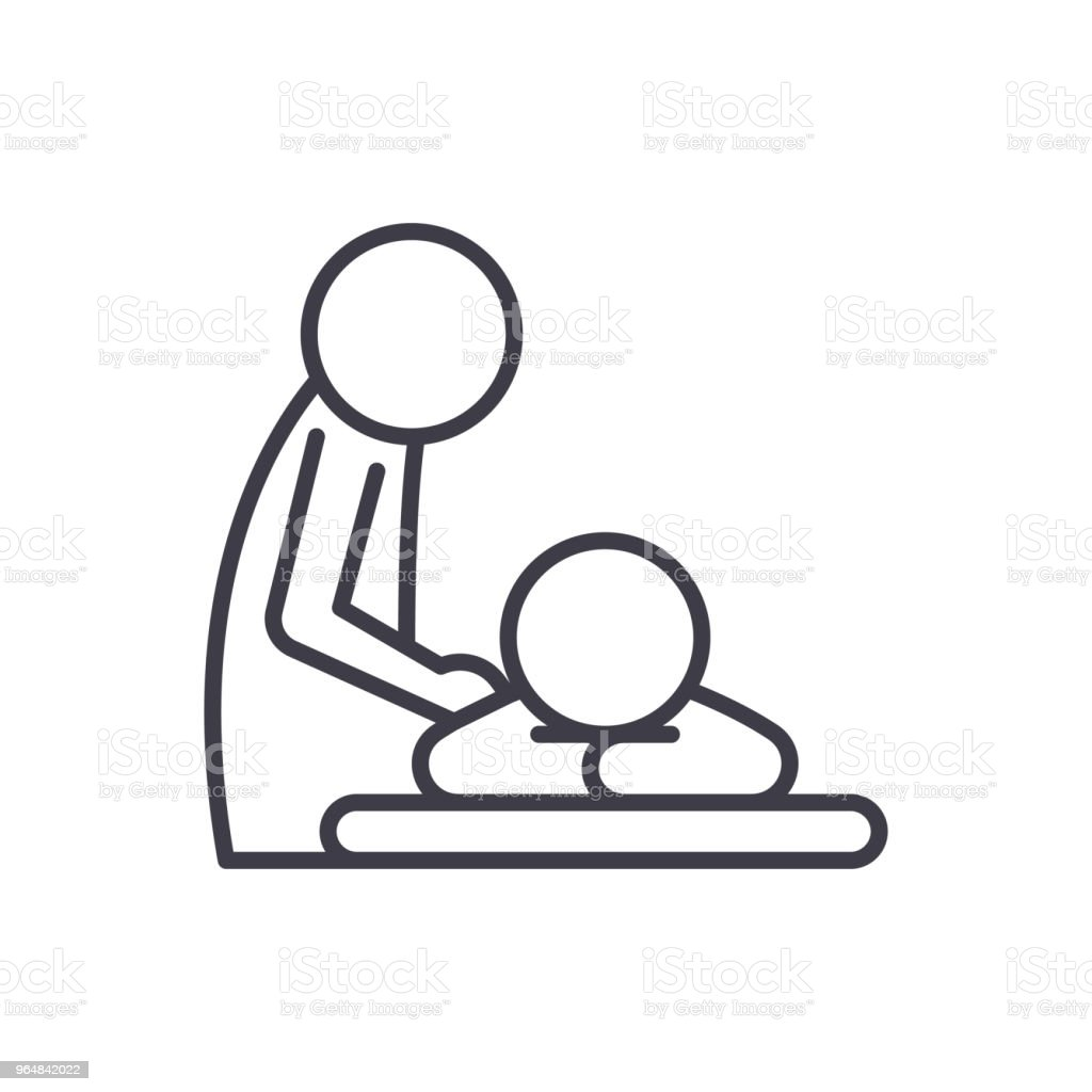 Healing massage black icon concept. Healing massage flat  vector symbol, sign, illustration. royalty-free healing massage black icon concept healing massage flat vector symbol sign illustration stock vector art & more images of beauty