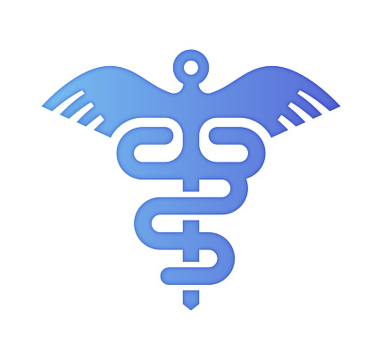 Health Affordability Gradient Color & Papercut Style Icon Design