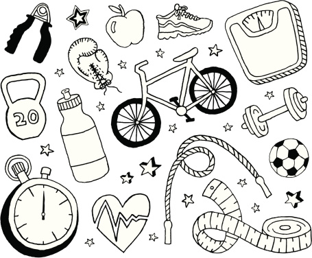 Health and Fitness Doodles