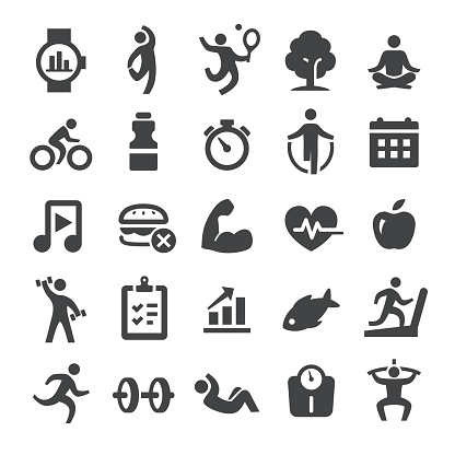 Health and Fitness Icons Set - Smart Series