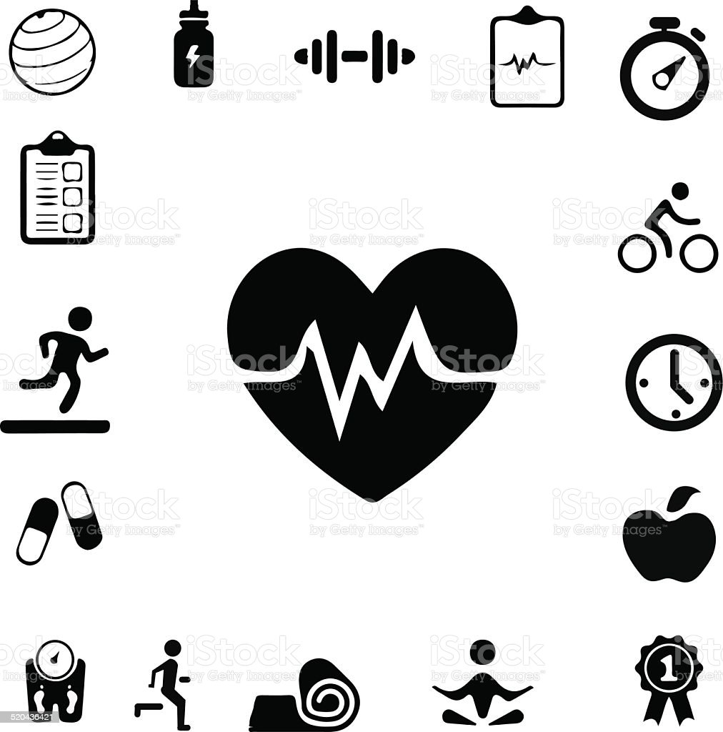 Health and Fitness icons vector art illustration