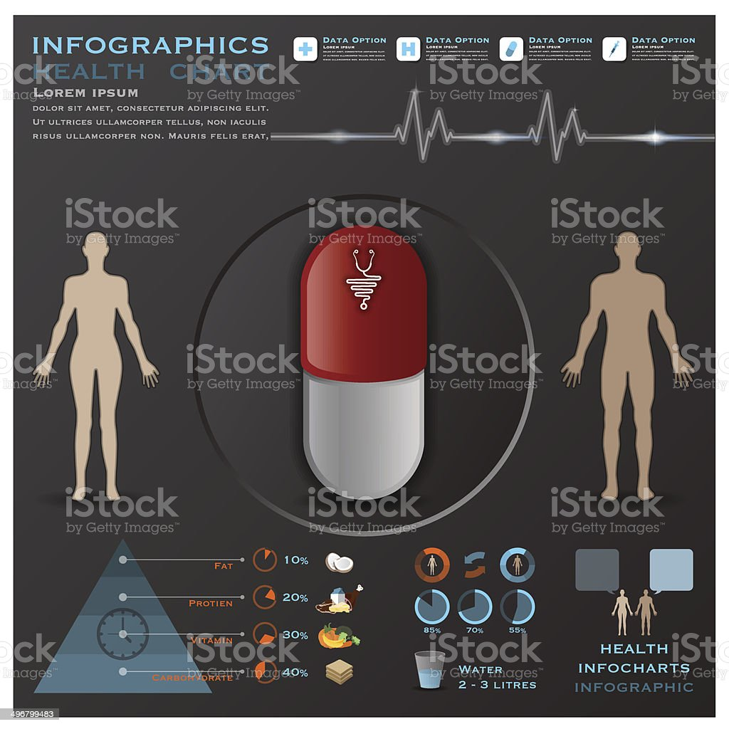 Health And Medical Infographic Infocharts royalty-free stock vector art