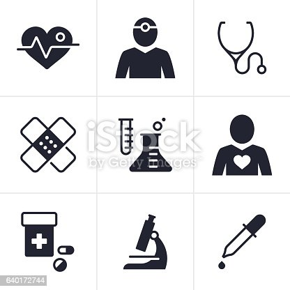 Health and medical symbol collection.