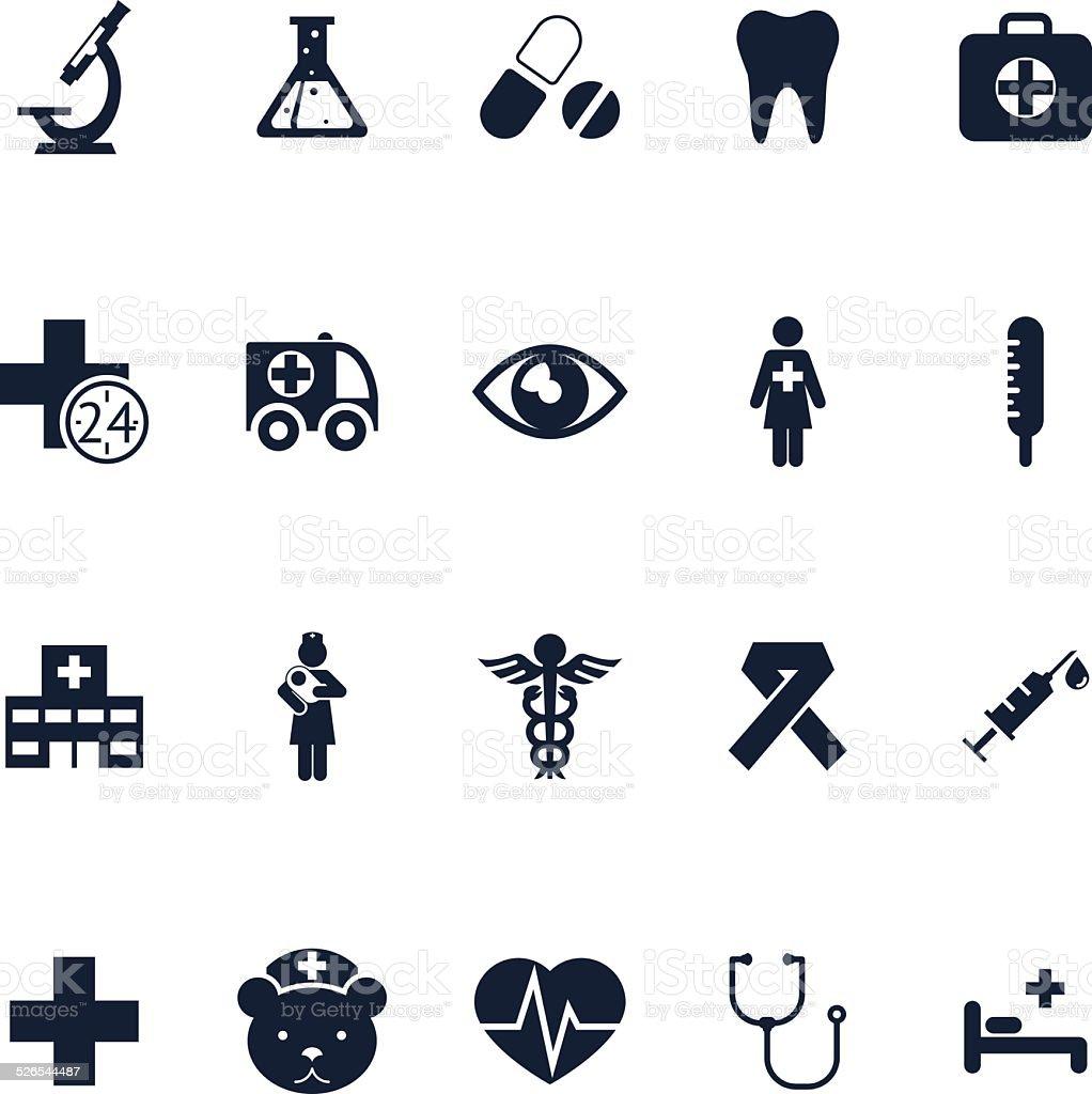 Health and medical vector art illustration