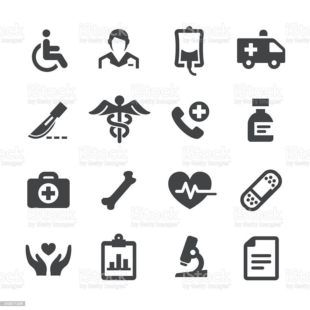 Health and Medicine Icons - Acme Series vector art illustration
