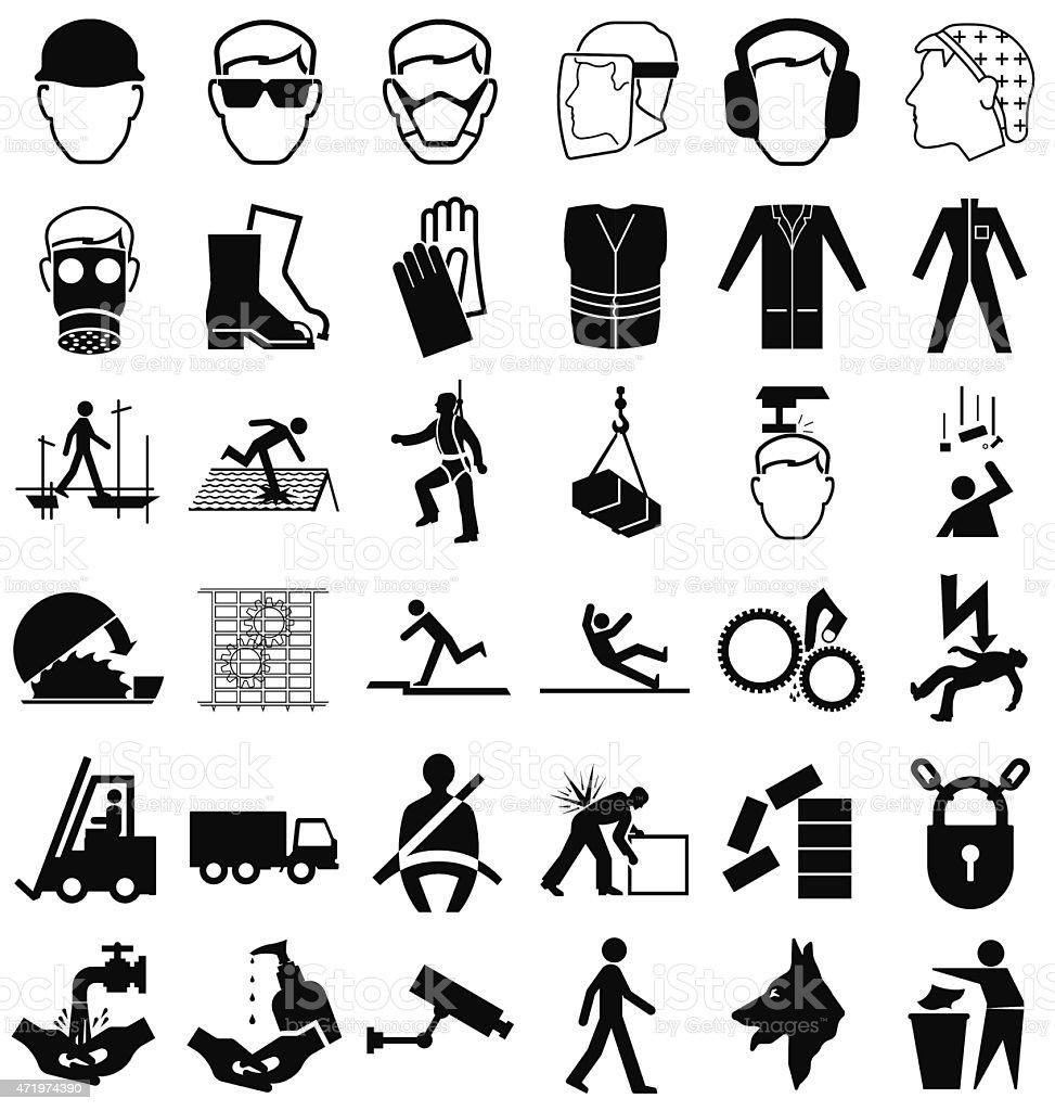 Gráficos de salud y seguridad - ilustración de arte vectorial