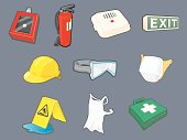 """""""A set of Health and Safety Icons, All grouped for easy editing and isolation."""""""