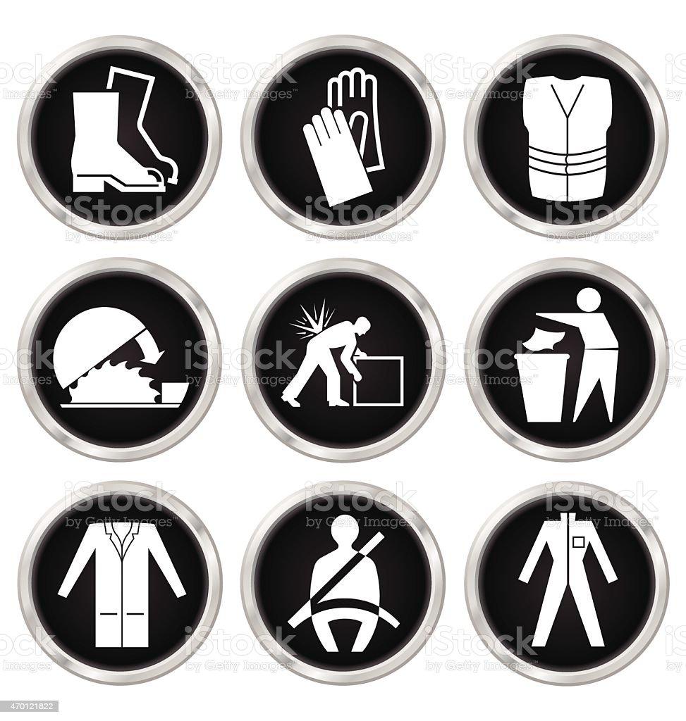Iconos de la salud y seguridad - ilustración de arte vectorial