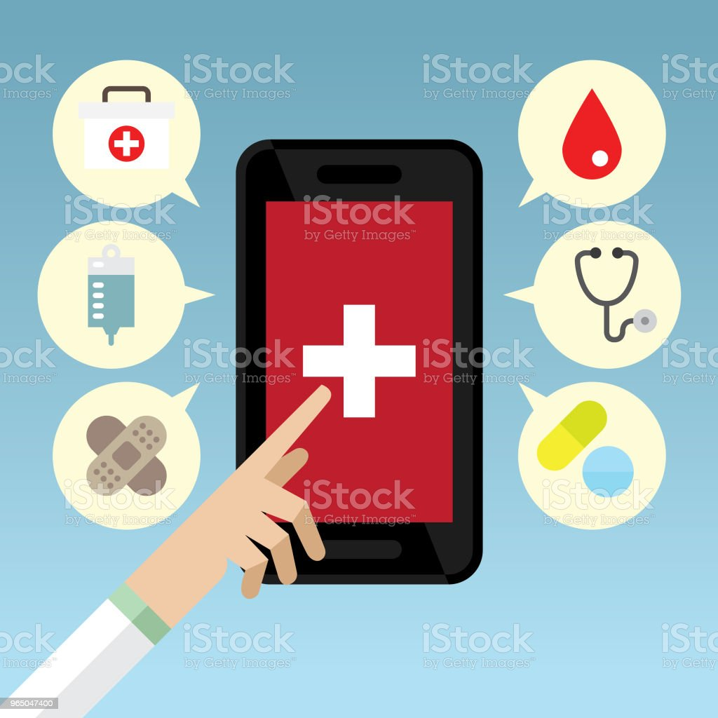 Health application royalty-free health application stock vector art & more images of accessibility