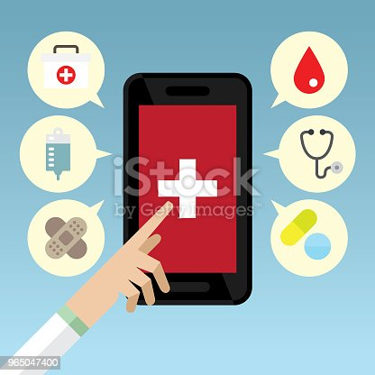 Health Application Stock Vector Art & More Images of Accessibility 965047400