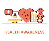 Health Awareness Icons