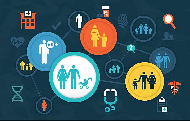 Health Background vector art illustration