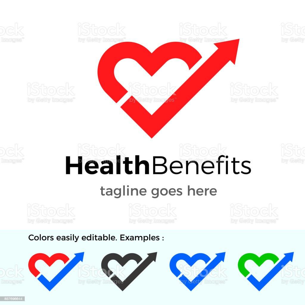 Logo de prestaciones de salud. Concepto de diseño de vectores de buena salud - ilustración de arte vectorial