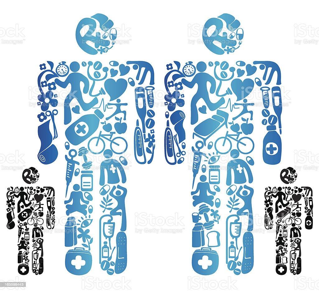 Ícone de saúde do corpo ilustração de Ícone de saúde do corpo e mais banco de imagens de bandagem royalty-free