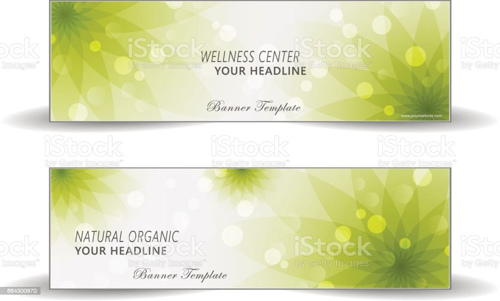 Health care abstract web banner vector art illustration