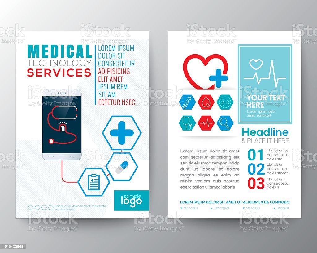 Health Care and Medical Poster Brochure Flyer design Layout vector art illustration