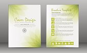 Minimalistic spa and healthcare design brochure. Flyer template with elements of medicine, spa, ayurveda, yoga and natural organic topics.
