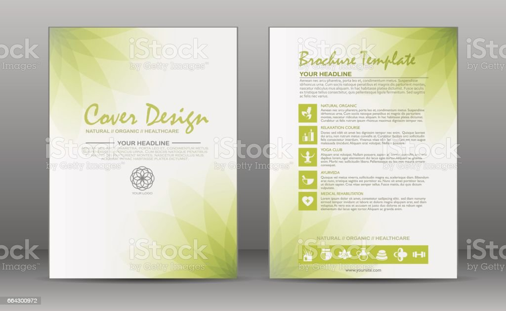 Health care Broschüre Template-design – Vektorgrafik