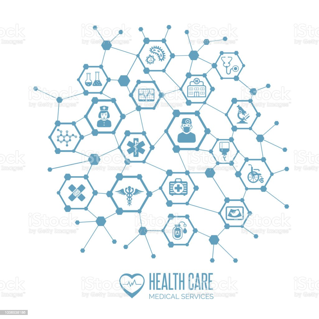 Health care concept vector art illustration