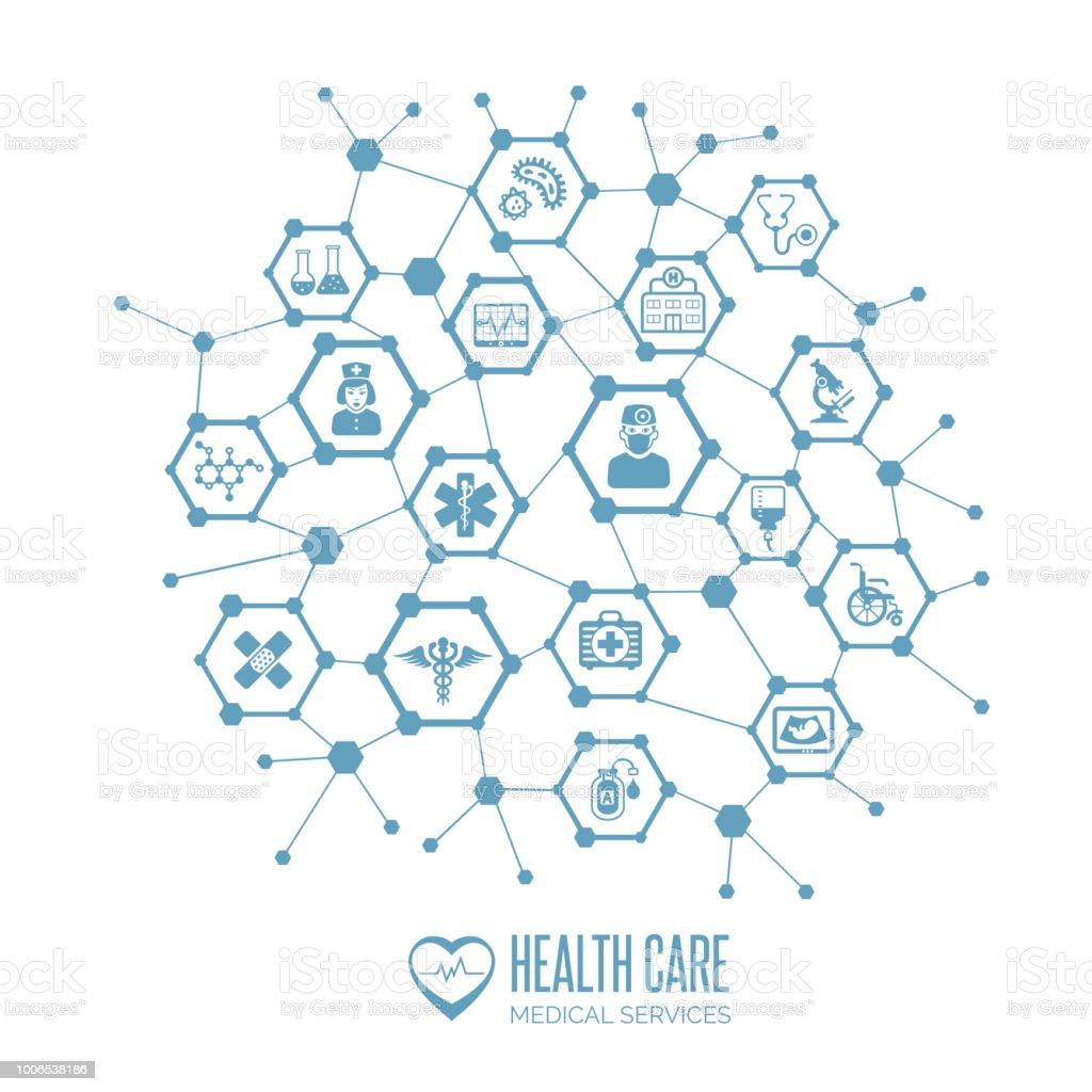 concept de soins de santé - Illustration vectorielle
