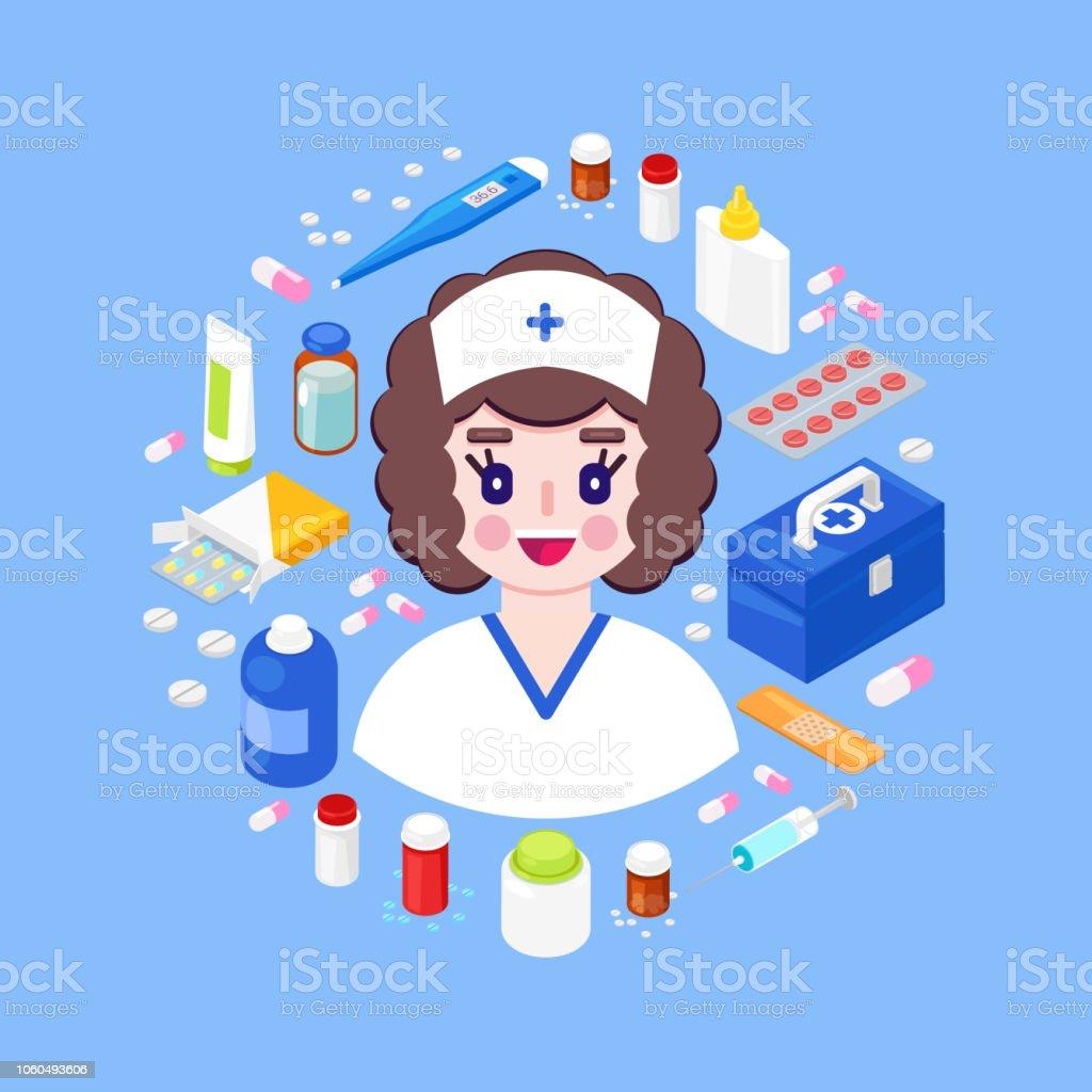 Health care Konzept – Vektorgrafik