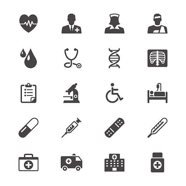 Health care flat icons Simple vector icons. Clear and sharp. Easy to resize. No transparency effect. EPS10 file. radiology stock illustrations