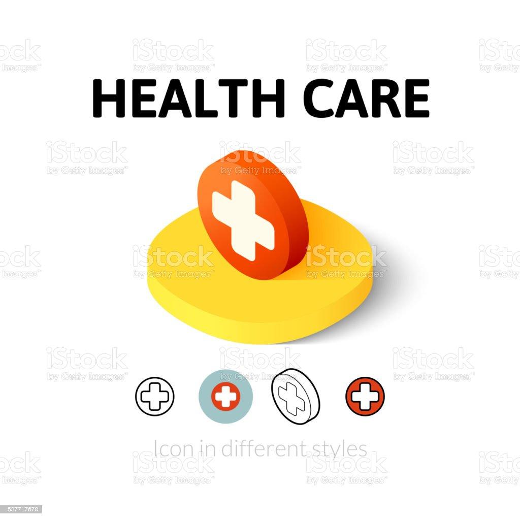 Health care icon in different stylevectorkunst illustratie