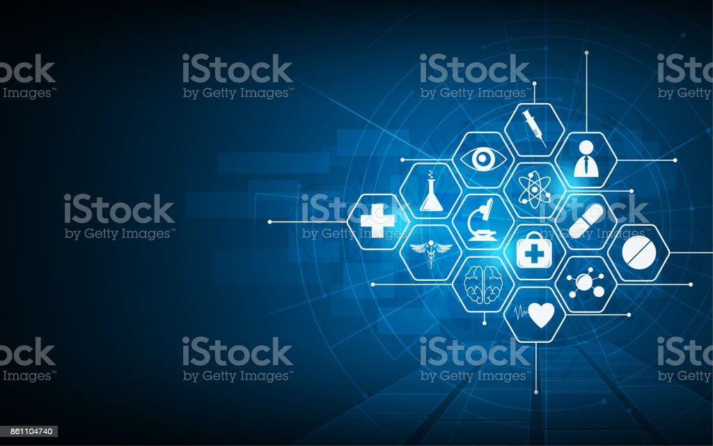 health care icon pattern medical innovation concept background design vector art illustration