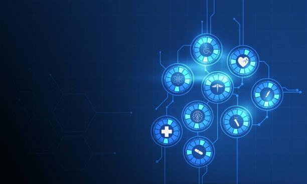 医療アイコン パターン医療イノベーション構想の背景 - 医療機器点のイラスト素材/クリップアート素材/マンガ素材/アイコン素材