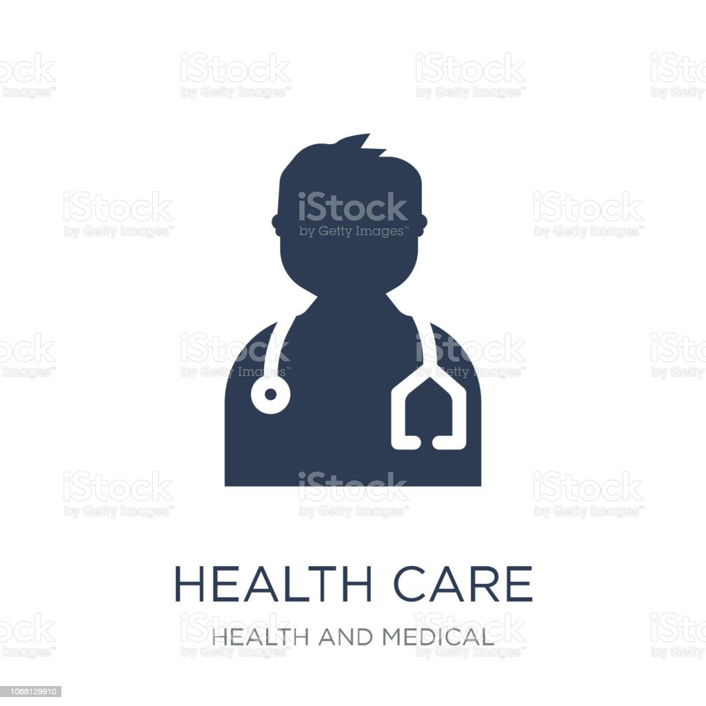 Health care icon. Trendy flat vector Health care icon on white background from Health and Medical collection vector art illustration