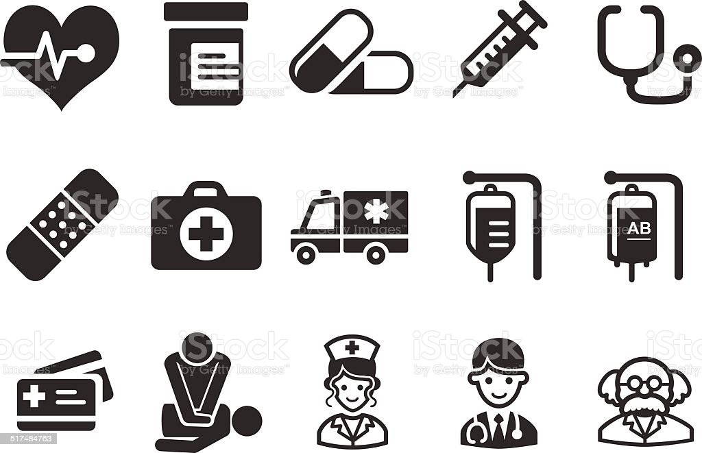 Health Care Icons - Medical Illustration vector art illustration
