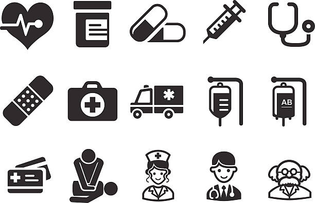 illustrazioni stock, clip art, cartoni animati e icone di tendenza di assistenza sanitaria icone-illustrazione medica - scheda clinica