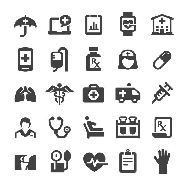 health care icons - smart series - health stock illustrations