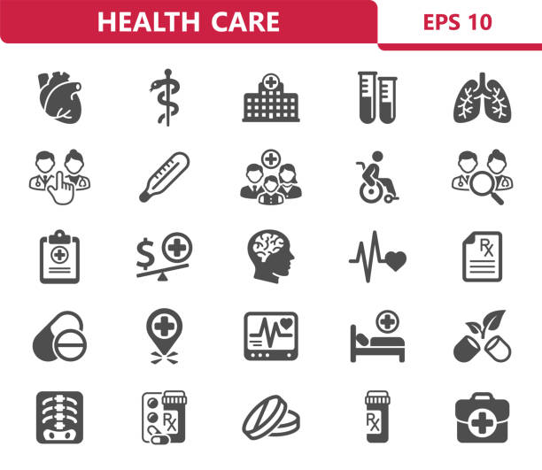 Health Care Icons Professional, pixel perfect icons optimized for both large and small resolutions. EPS 10 format. health icons stock illustrations