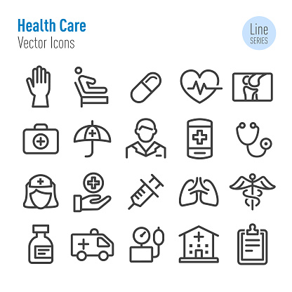 Health Care Icons - Vector Line Series