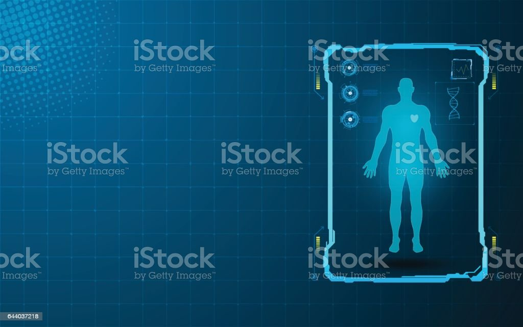 health care innovation concept background vector art illustration