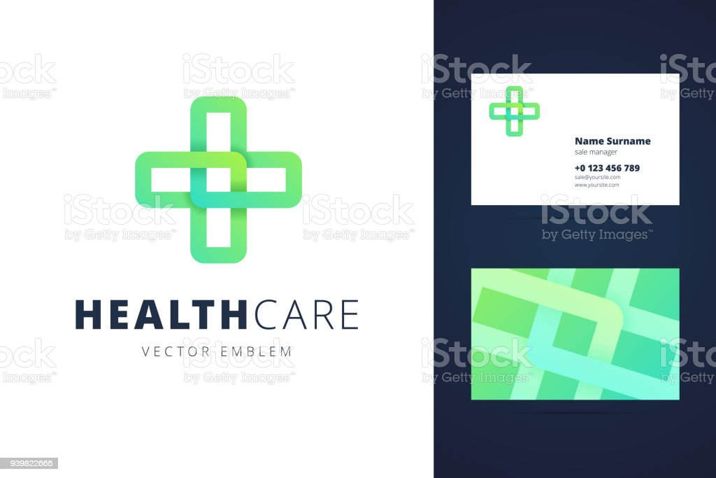 Health Care Sign And Business Card Template Stock Vector Art & More ...