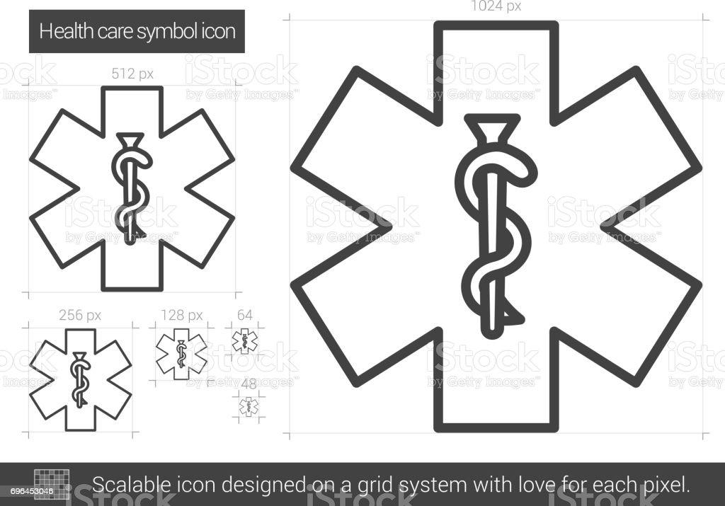 Health care symbol line icon vector art illustration
